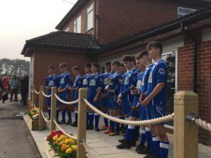 Brockenhurst U16s celebrate their final season in the BYFL by winning the Cowdrys Cup.